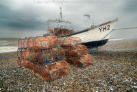 Lobster Pots on Weybourne Beach