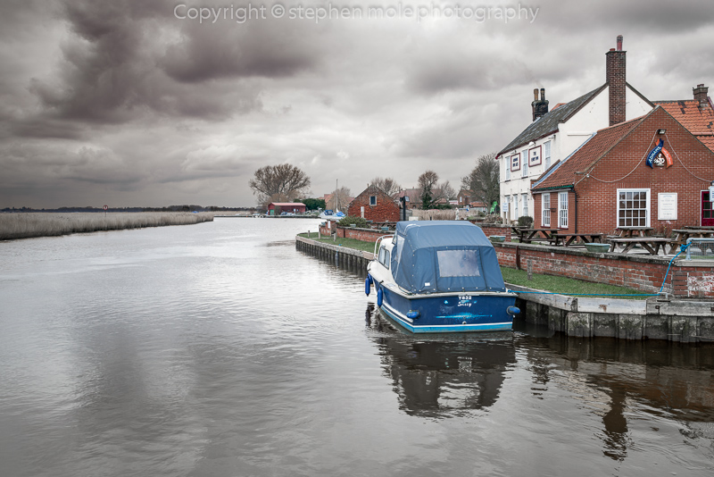 Moored at Stokesby Ferry
