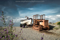 Tractor and Fishing Boat