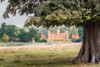 Blickling Hall under a tree