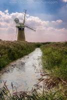 St Benets Mill by dyke