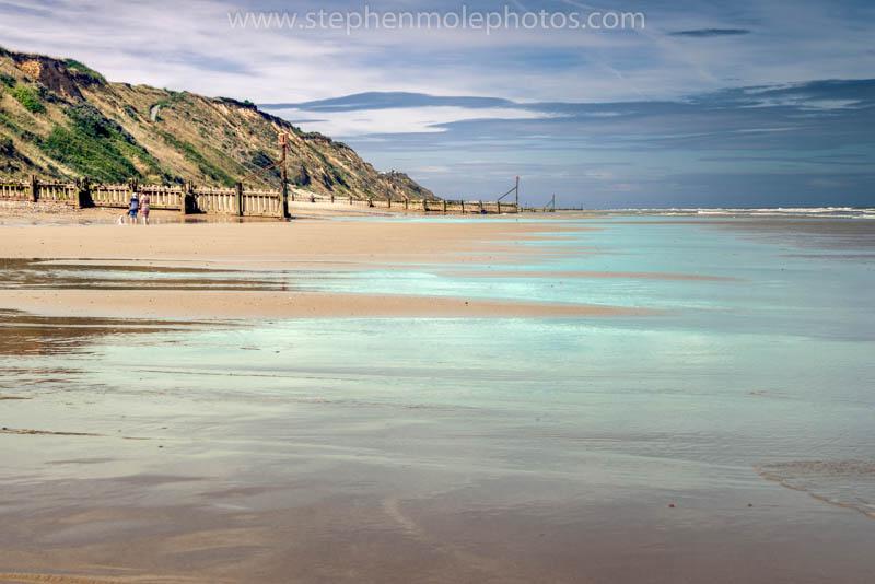 Sea shore at Mundesley