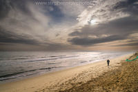 Hemsby Beach to himself