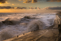 Waves crashing at Overstrand