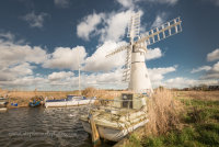 Moored at Thurne Mill