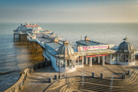 Cromer Pier from the slope