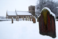 Ormesby St Michael Church Snow