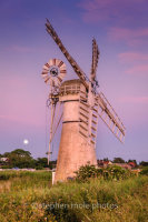 Moonrise at Thurne Mill