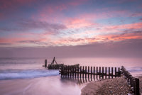Groyne at dawn in Caister