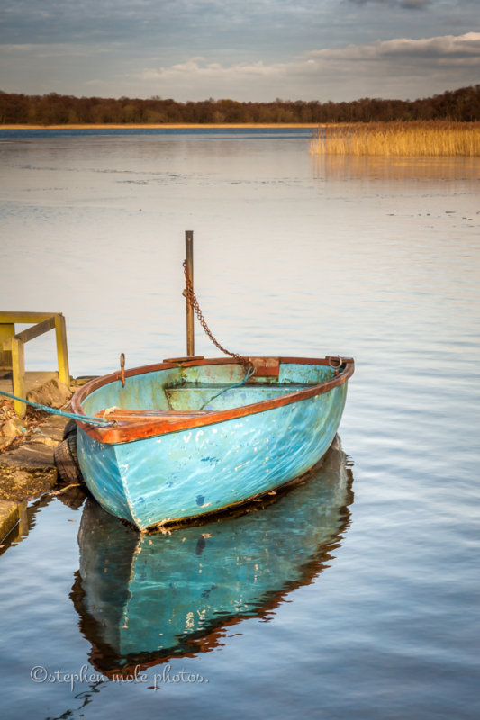 Lone boat at Filby