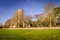 Across the grass to Wymondham Abbey