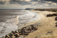 Happisburgh beach from the cliffs