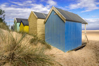 Behind Wells Beach Huts