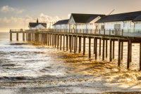 Golden water at Southwold Pier