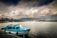 Ranworth Broad as storm approaches