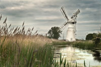 Thurne Mill with reflection