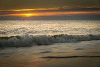 Breaking waves at Hemsby