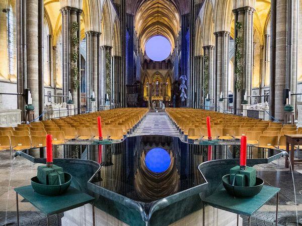 Salisbury Cathedral at Christmas