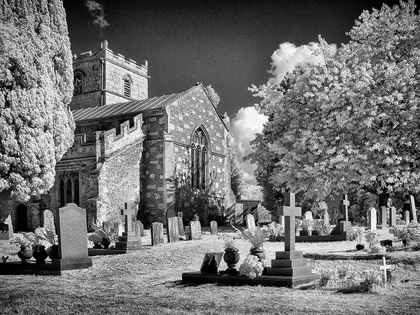 Coombe Bisset Church in Infra Red