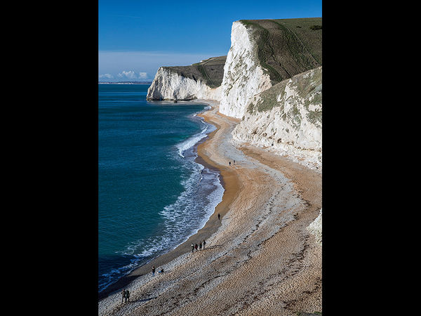 Jurassic Coast beach scene