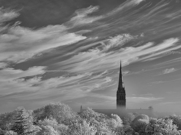 Salisbury Cathedral Infra Red