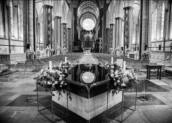 Salisbury Cathedral Interior at Christmas