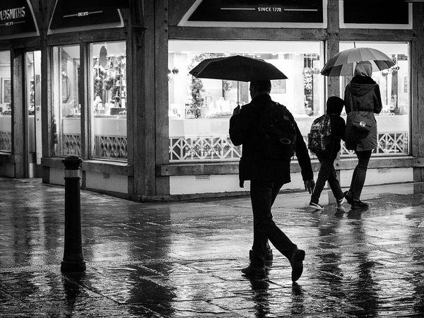 On a wet corner