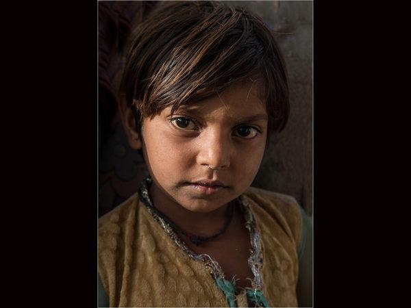 Portrait of an Indian boy
