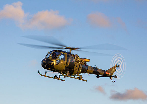 Scout Helicopter in flight