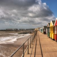 Beach Huts and Pier
