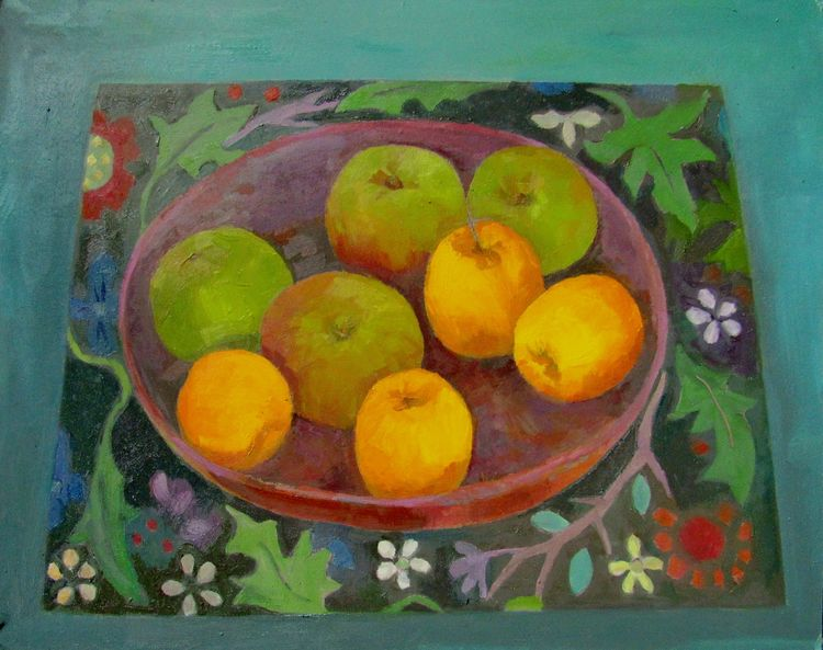 Opal and Bramley apples