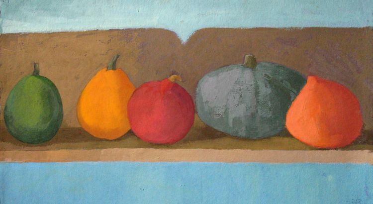 Pumpkin Series Distempera and Gouache on hand made paper
