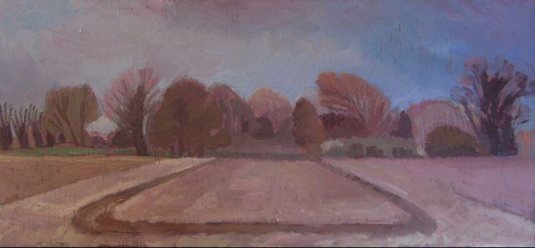 Winter Fields Wisbech Road