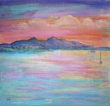 Sunset at Connell, Argyll   SOLD