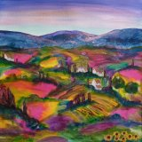 Tuscany - hills and fields  SOLD