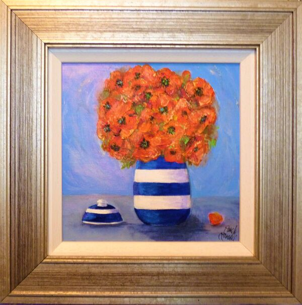Poppies and ginger jar SOLD