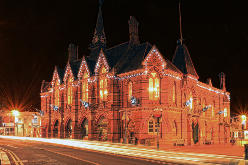 Wokingham Town Hall Lights, Berkshire