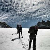 Alps sky - I'm last in line.