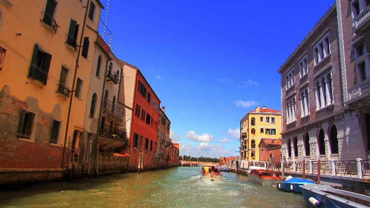 Venice from water taxi