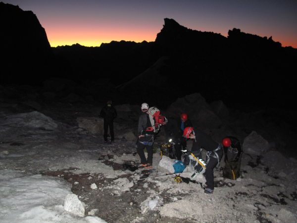 Early morning climb