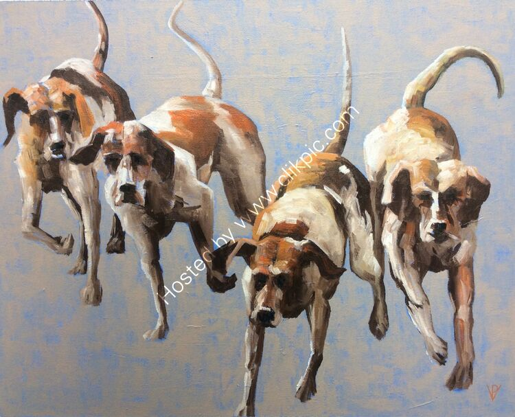 The Hounds #1, canvas, 38x46, £260