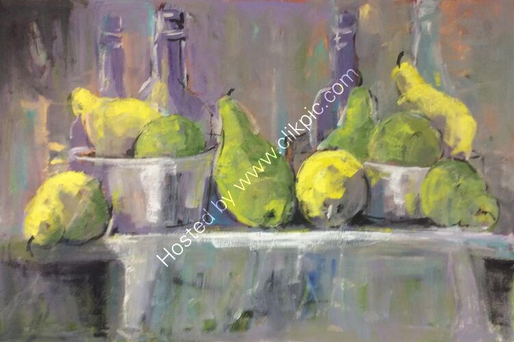 Bottles and pears, 51x76 £340