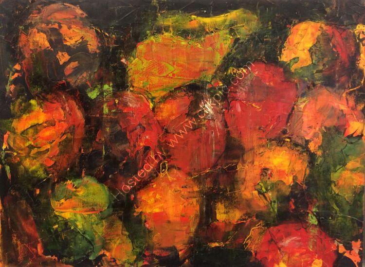 Fruit colour study #4 Gestalt, 30x40 , £180