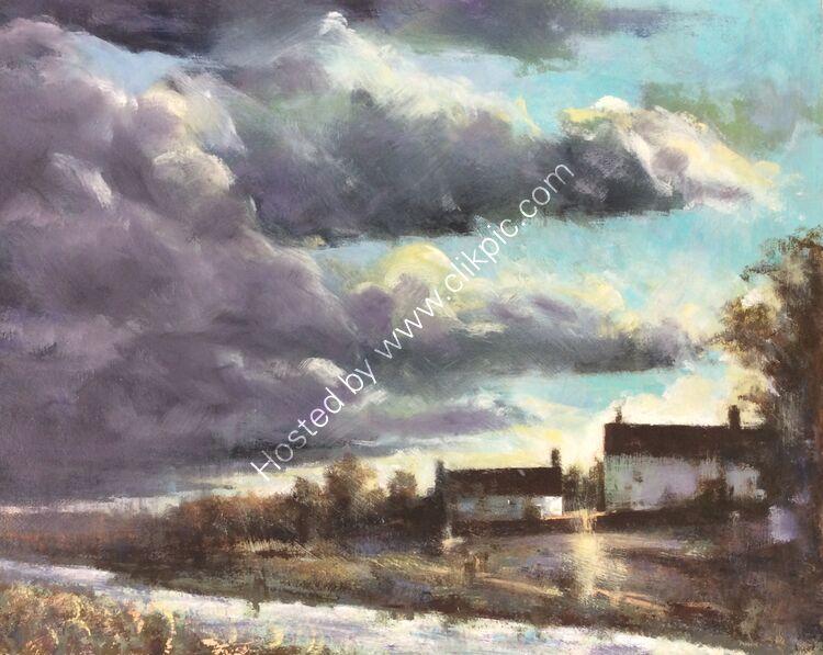 Passing storm, Aldham, £240