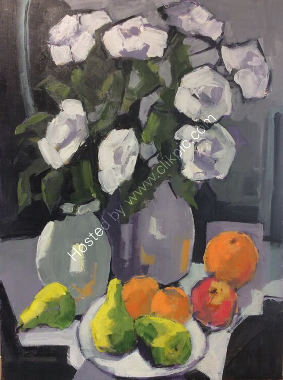 Roses and fruit, 45x60 £260
