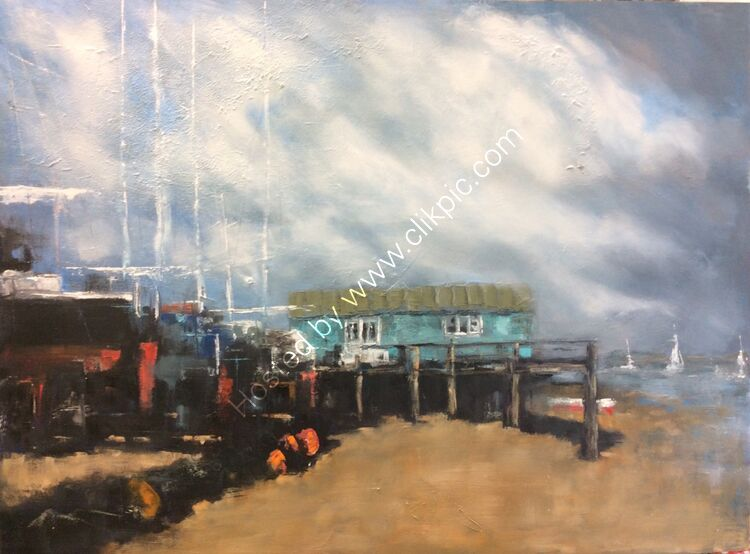 Felixstowe ferry, 47x63, £210