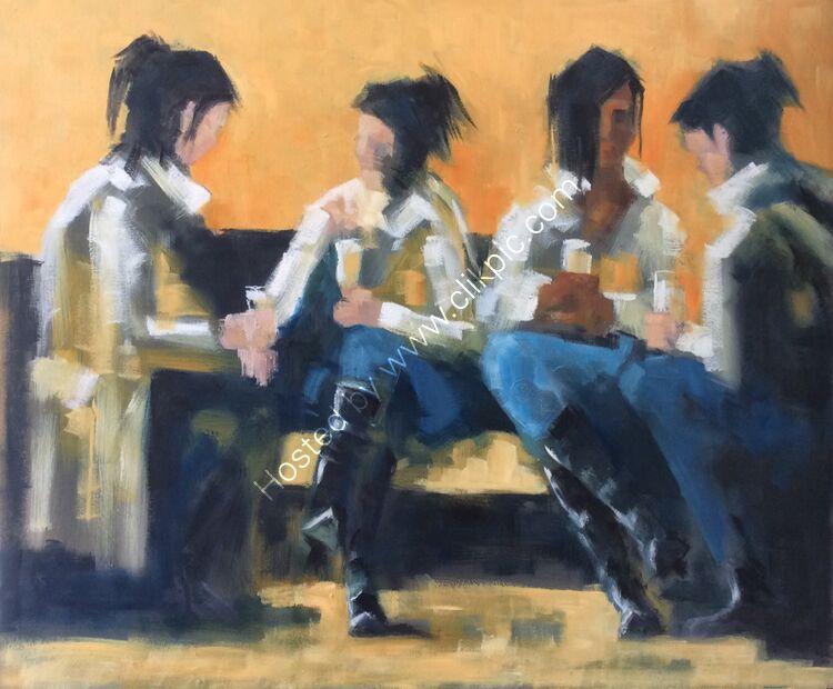 Conversation 4, 61x51