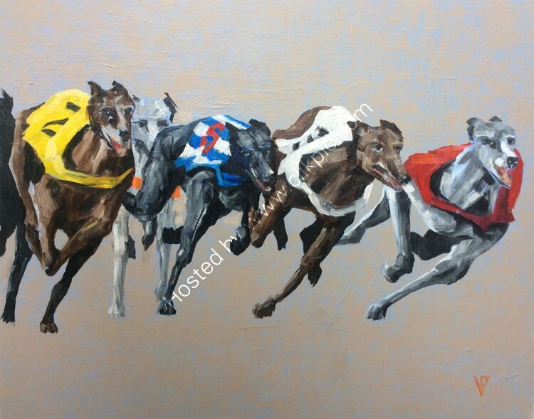 The chase, canvas, 38x46, £260