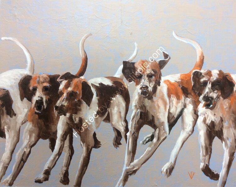 The hounds #2, canvas. 38x46, £260