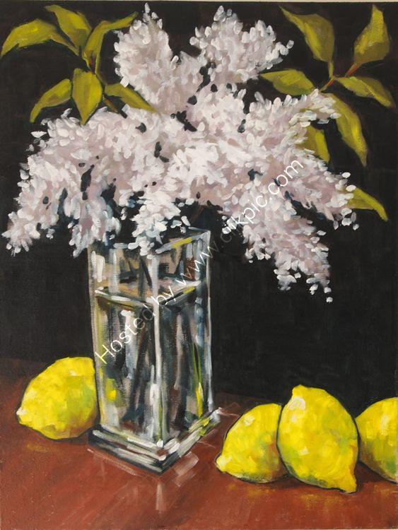 Lilac and lemons, 30x40 £180